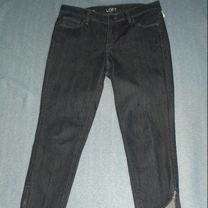 Like New Modern Skinny Ankle Button Fly Blue Jeans